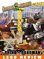 LEGO Super Heroes Rhino + Sandman Supervillian Team-Up Review (76037)