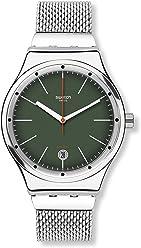 Swatch Womens Irony YIS407GB Silver Stainless-Steel Analog Quartz Dress Watch