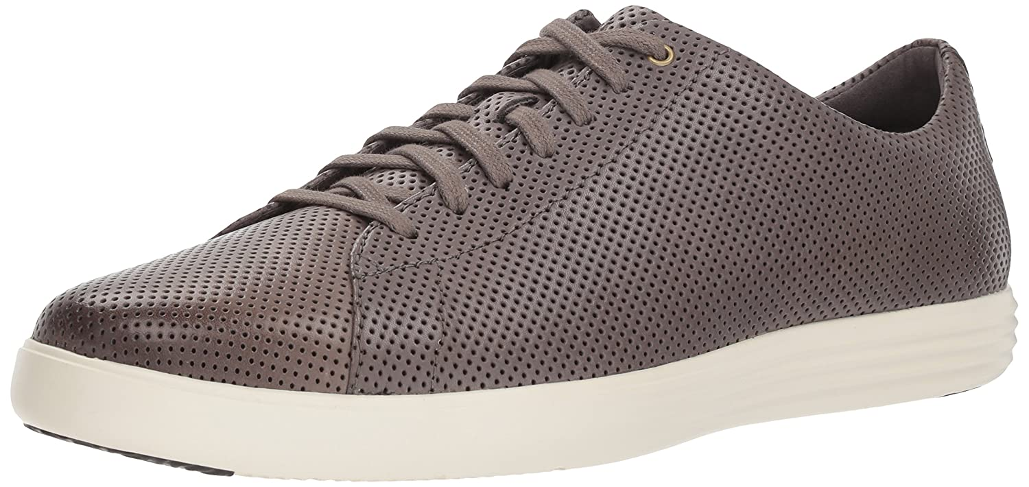 Stormcloud Perforated Leather Optic blanc Cole Haan Grand Crosscourt, paniers Homme