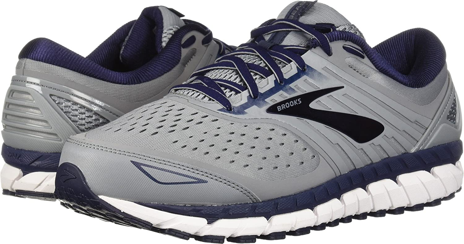Brooks Mens Beast '18 B077T1D3M2 11.5 EE US|Grey/Navy/White
