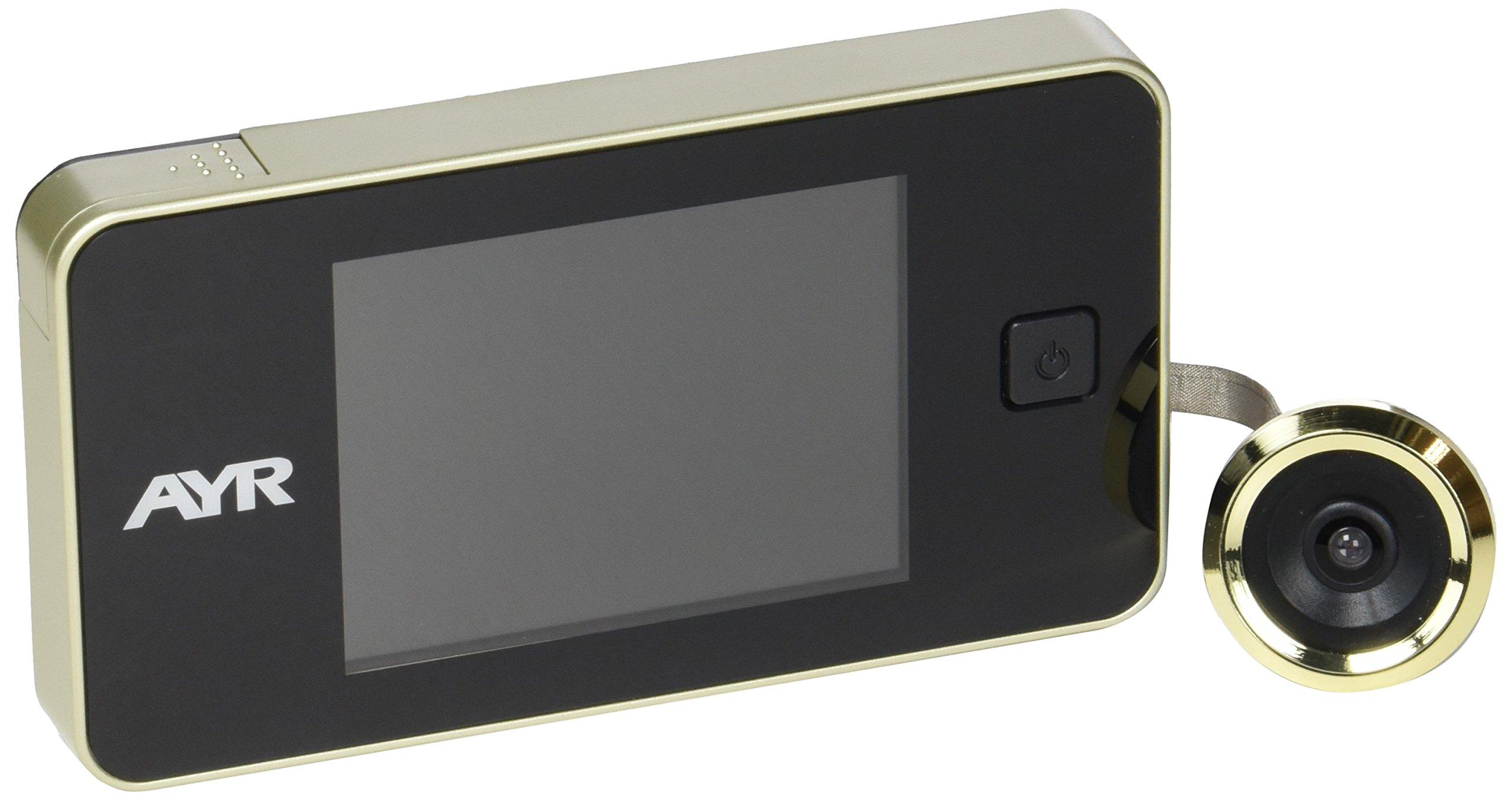 AYR 752, Mirilla digital de puerta, 125 x 68 x 15 mm