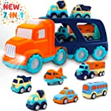 Toddler Toys Car for Boys: Kids Toys for 1 2 3 4 5 Year Old Boys Girls | Boy Toys 7 in 1 Carrier Vehicle Toy Trucks Baby Toys