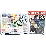 Tailored Tackle Saltwater Surf Fishing Kit 82 Pc Tackle Box with Tackle Included   Surf Fishing Rigs & Saltwater Fishing Lure