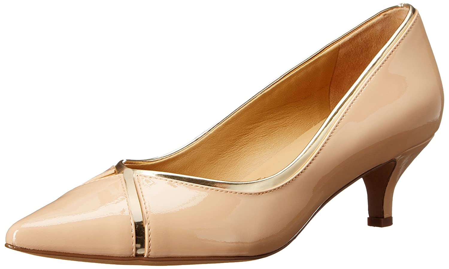 Trotters Women's Kelsey Dress Pump B011EZIEFW 9.5 B(M) US|Nude/Gold