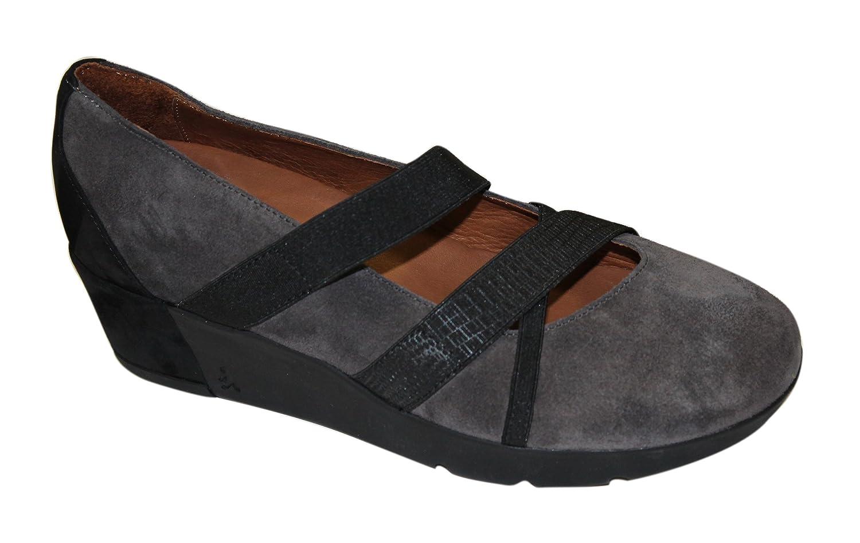 BENVADO Kate Tafel/Schwarz Schuh Damen mit elastischen INCROCIATI Keilabsatz Keilabsatz Keilabsatz 3 cm - c5da7f