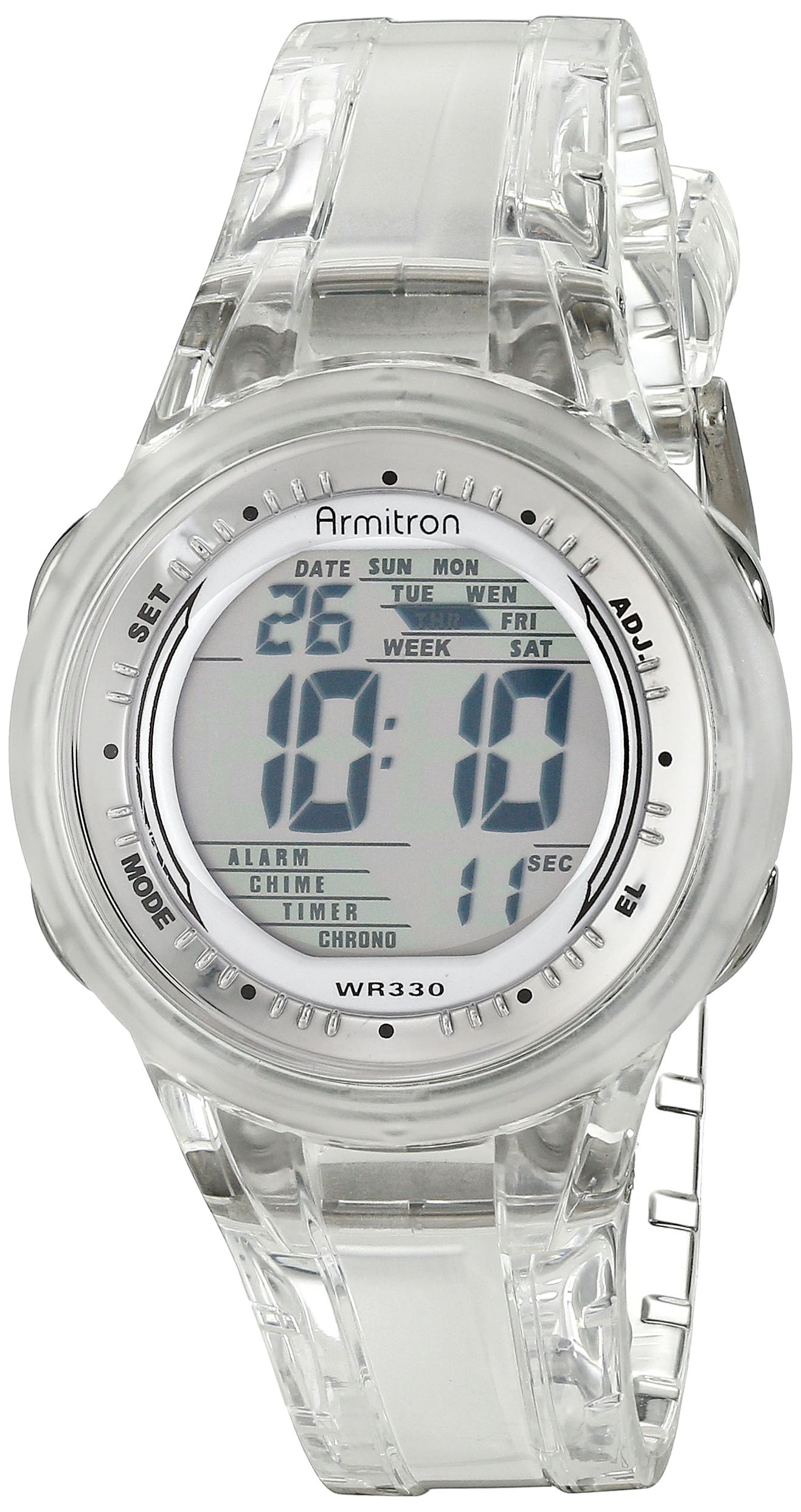 Armitron Sport Womens 45/7051 Digital Jelly Strap Watch