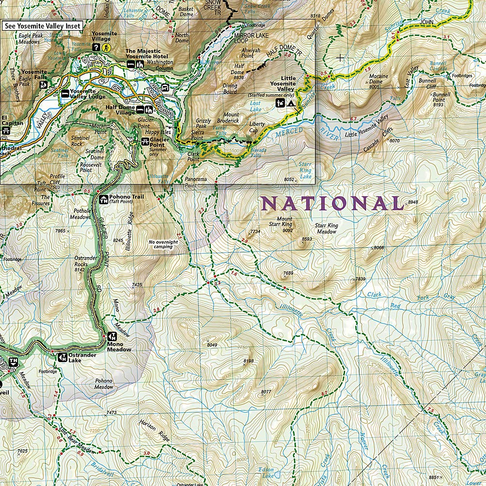 Cartina Yosemite National Park.Amazon It National Geographic Trails Illustrated Map Yosemite National Park California Usa Trails Illustrated National Parks National Geographic Maps Libri In Altre Lingue