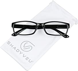 dc7d9cb529 ShadyVEU - Standard Classic Rectangular Reading Rx Zoom Magnifying Reader  Eye Glasses