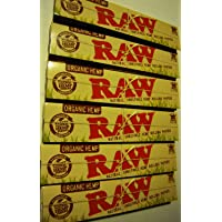 Raw King Size Slim Organic Hemp Rolling Papers 10 Packs