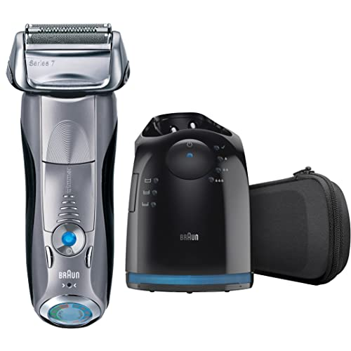 Braun Series 7 790cc-4 Men's Electric Foil Shaver with Clean and Charge Station Rechargeable and Cordless Razor