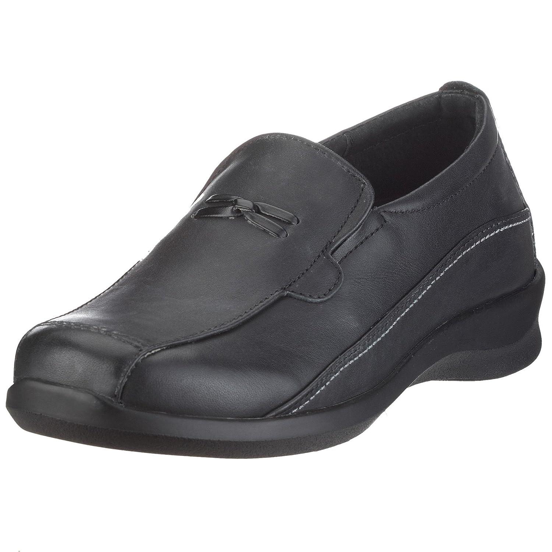 Aetrex Women's E220 Rosalynn Leather Slip-on B0018MKBFI 6 B(M) US|Black Leather