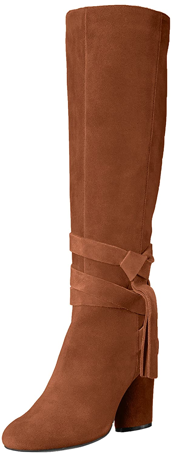 The Fix Women's Nia Knee-High Ankle Tie Boot B072V89RCP 6.5 M US|Bourbon Suede
