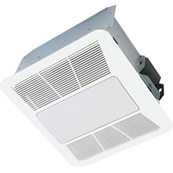 Hampton bay 80 cfm ceiling exhaust fan with led light and - Ultra quiet bathroom exhaust fan with light ...