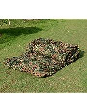 Filet de camouflage militaire avec feuilles de camouflage pour camping et chasse - 2 x 3m