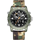 Big Face Military Tactical Watch for Men, Mens Outdoor Sport Wrist Watch, Large Analog Digital Watch - Dual Display Japanese