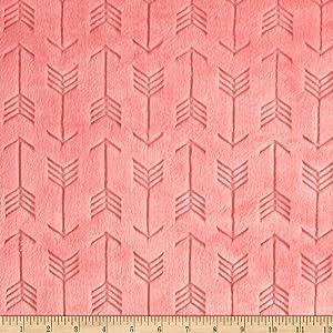 Shannon Fabrics Minky Embossed Arrow Cuddle Yard, Coral