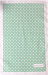 Sarah Smith Tea Towel | Green Leaf | 100% Cotton | Includes Hanging Loop