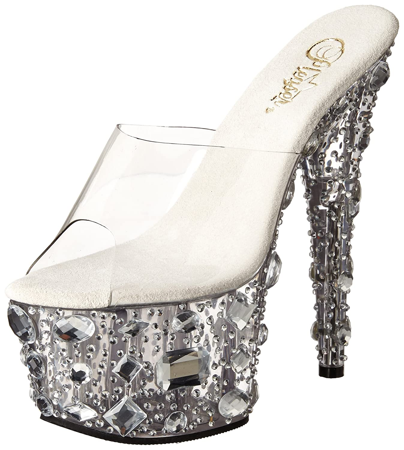 Pleaser Women's Adore-701MR/C/M Platform Sandal B00B471160 12 B(M) US|Clear/Clear