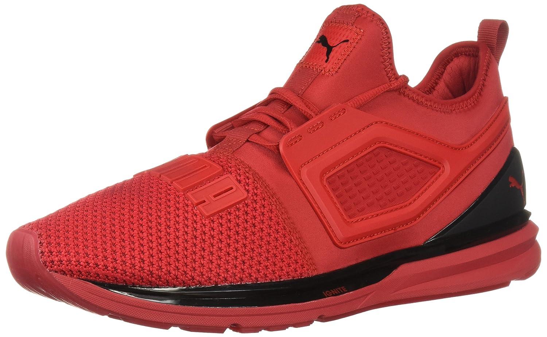 PUMA Men's Ignite Limitless Sneaker B077SWWGC4 4.5 M US|Ribbon Red-puma Black