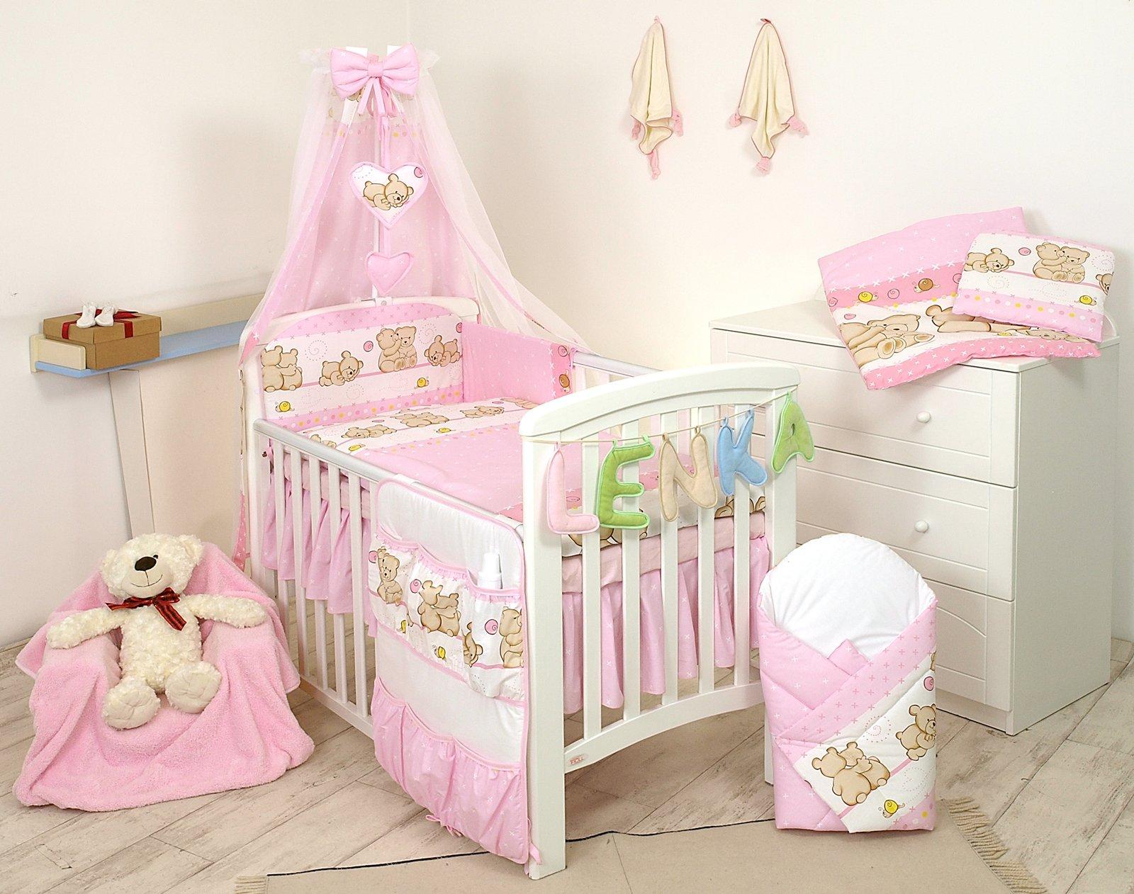 PRO COSMO 11 Piezas juego de ropa de cama para cuna de bebé cama edredón,