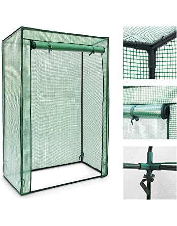 Green Relaxdays PE 150 cm Tall Greenhouse for Tomatoes Greenhouse Growhouse Cold Frame Steel Frame Foil//Fabric Tarpaulin Sturdy