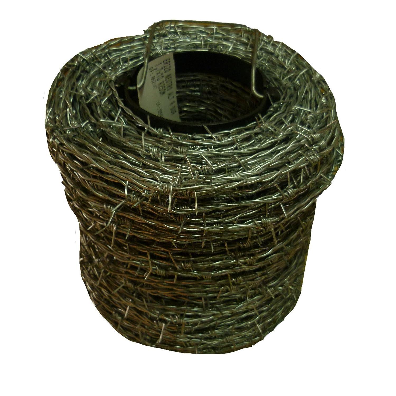 500 m filo spinato zincato 1,6 1,7 mm per Wild recinzione recinzione forestale nodo intrecciato