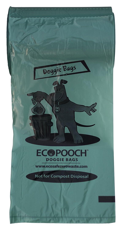 EcoPooch 815GRN-D Commercial Doggie Poop Bag Rolls for Dispenser, Plastic, Large, 8  x 15 , Green (Pack of 4200)