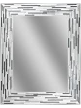 "Headwest Reeded Charcoal Tiles Wall Mirror, 30"" x 24"""
