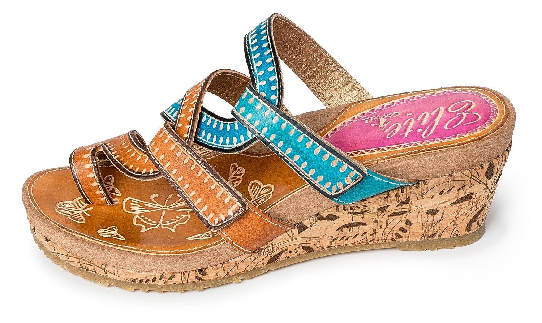 Corkys Elite Women's Roatan Wedge Sandal B07D23KS9S 8 B(M) US|Amber