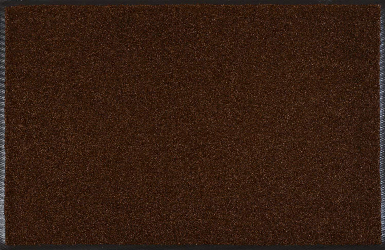 Wash+dry Fußmatte Dunkelbraun 120x180 cm