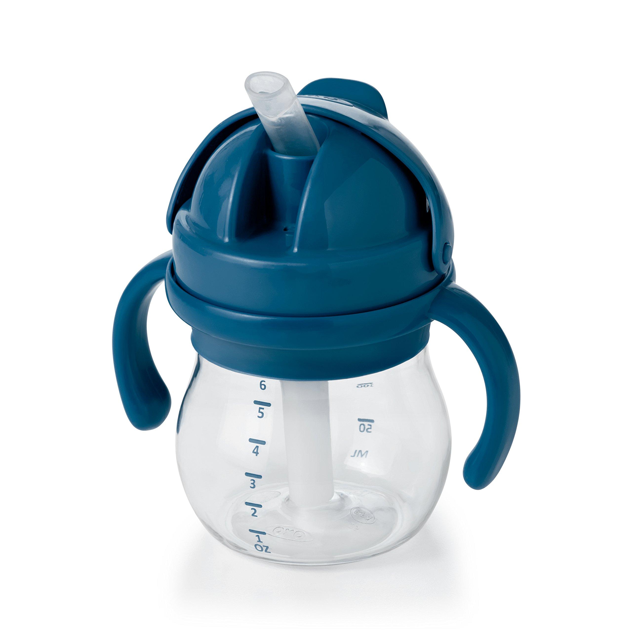Amazon Com Zoli Bot Straw Sippy Cup Green 6 Oz Baby