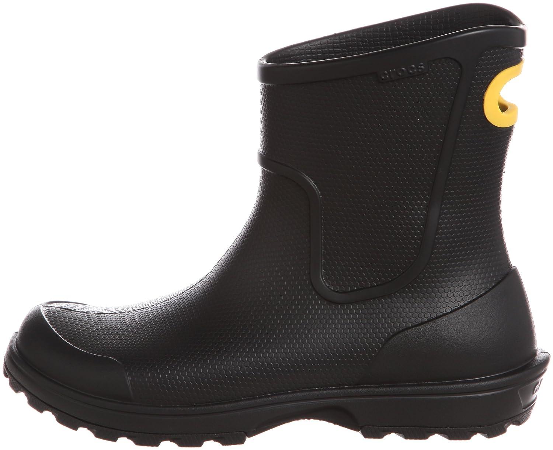 crocs Men Herren Wellie Rain Boot Men crocs Gummistiefel Schwarz (Black) b17ca3