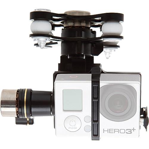 DJI Zenmuse H3-3D Montaje de Cámara de Acción Gimbal para Dron Cuadrocóptero con Antena UAV para Phantom 2 UAV Compatible con GoPro Hero2/3/3+ y Cámaras de Acción - Negro