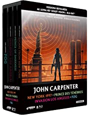 John Carpenter - Coffret : New York 1997 + Prince des ténèbres + Invasion Los Angeles + Fog [4K Ultra HD  bonus - Édition boîtier SteelBook]