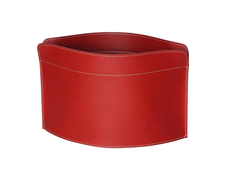 GIUSY  Zeitungsständer Lederfarbe Rot, Zeitschriftenständer aus Leder, Magazinhalter, Geschenkidee, Made in  by Limac Design®.