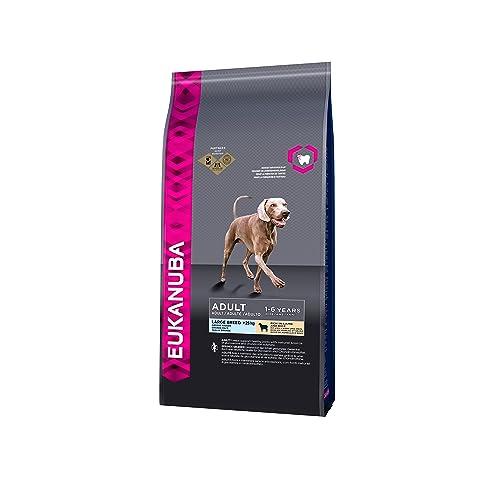 EUKANUBA - Croquettes Premium Chiens Adultes Grandes Races - Digestion sensible - 100% Complète et Equilibrée - L-Carnitine - sans OGM conservateur arôme artificiel - Riche en Agneau et Riz - 12kg