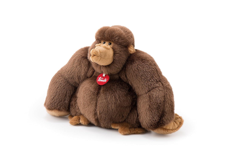 Trudi Sevi- Trudi 27402-Gorille Marron Rocco cm 38, 27402