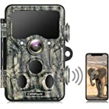 Campark WiFi Bluetooth Trail Camera 20MP 1296P Game Hunting Camera with 940nm IR LEDs Night Vision Motion Activated Waterproo
