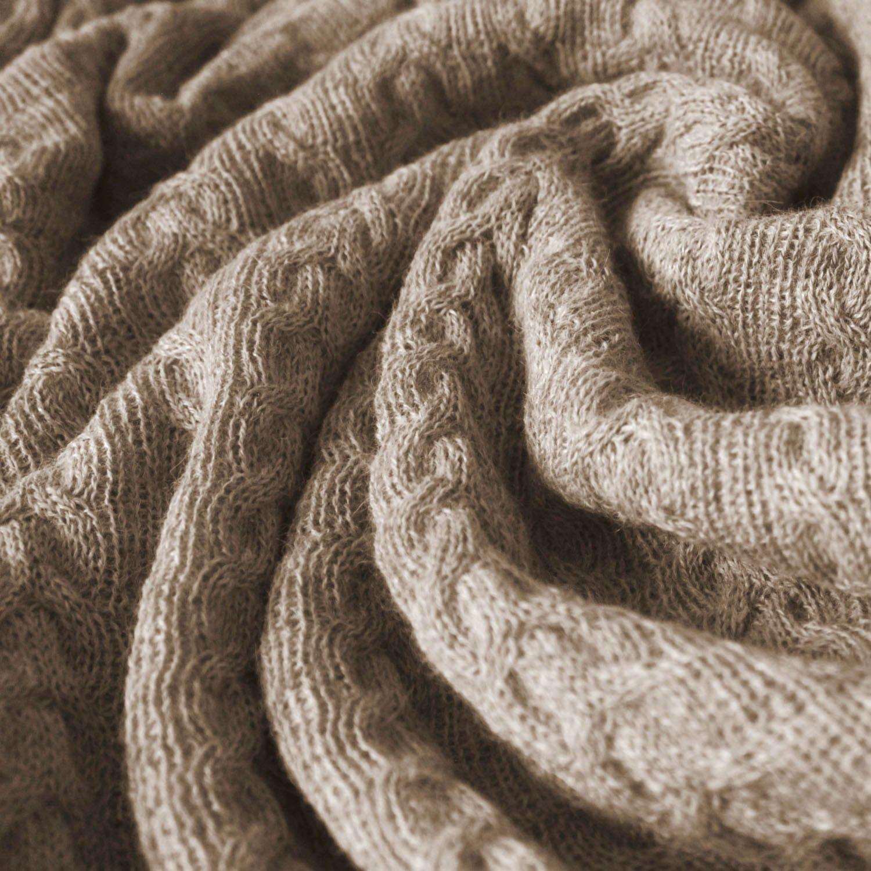 Lorenzo Cana Voluminöse Luxus Alpakadecke aus 100% Alpaka - Wolle vom Baby Alpaka Fair Trade Decke Wohndecke gestrickt Sofadecke Tagesdecke Kuscheldecke