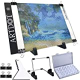 ARTDOT A4 LED Light Pad for Diamond Painting, USB Powered Light Board Kit, Adjustable Brightness with Detachable Stand and Cl