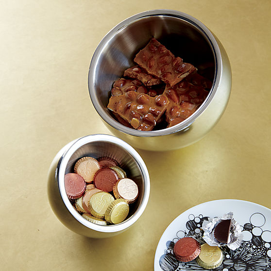 stainless steel snack bowl | CB2