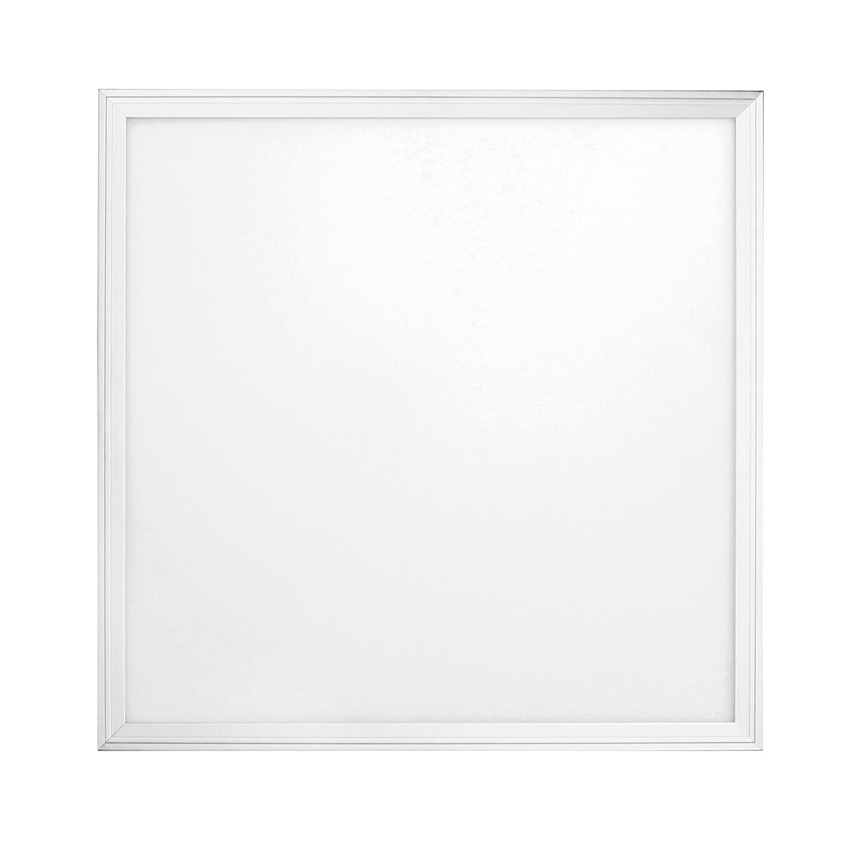 Sevenon LED 64410 LED Panel SMD Ultraslim quadratisch eingebaut, 54 W, Weiß matt, 59,5 x 2 cm (Seite X Höhe)
