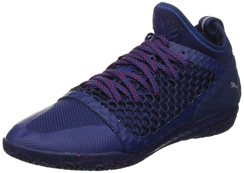 PUMA Men's 365 Ignite Netfit CT Soccer Schuhe, Blau Depths Weiß-Toreador, 11 M US