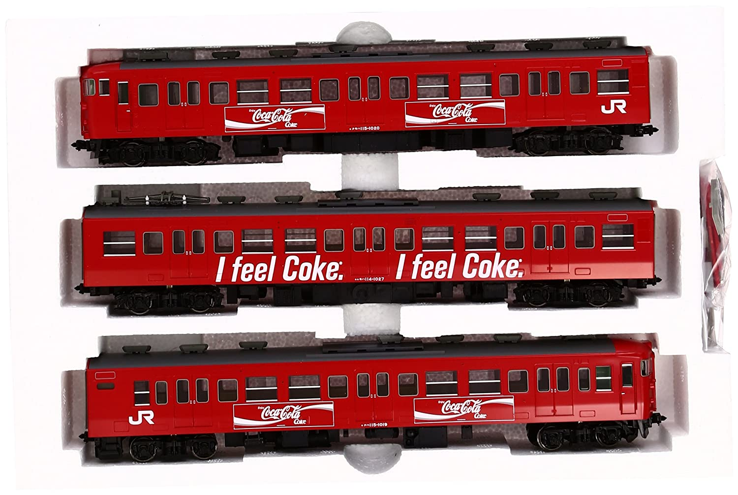 J.R. J.R. J.R. Suburban Train Series 115-1000 (Coca Cola Colour) (3-Car Set) (Model Train) (japan import) 9ceaa4