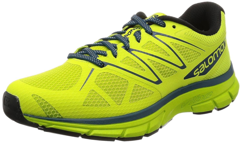 Salomon Sonic, Zapatillas de Trail Running para Hombre 42 2/3 EU|Verde (Lime Punch./Lime Green/Mallard Blue)