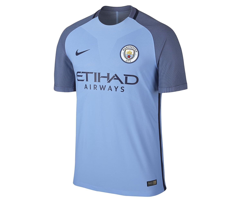 Nike 2016-2017 Man City Vapor Home Match Football Soccer T-Shirt Trikot