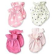 Gerber Baby Girls' 4-Pair Mittens, Fox, 0-3 Months