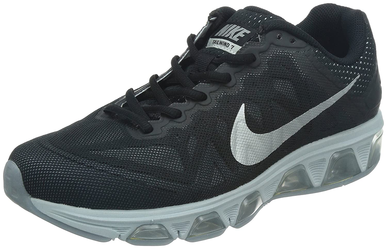 schwarz (Schwarz  Silber-metallic-reines Platin) Nike Herren Air Max Tailwind 7 Laufschuhe