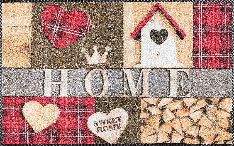 Wash+dry Cottage Home Fußmatte, Acryl, bunt, 75x120x0.7 cm