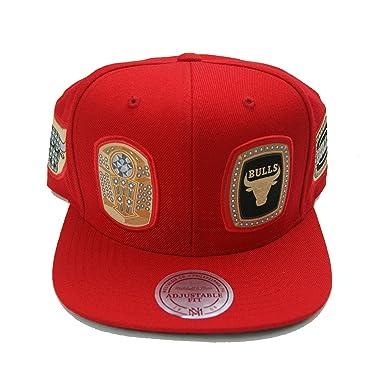d7f974b81bb15 ... usa mitchell ness chicago bulls 6 rings championships snapback red  b3a95 e7ae0